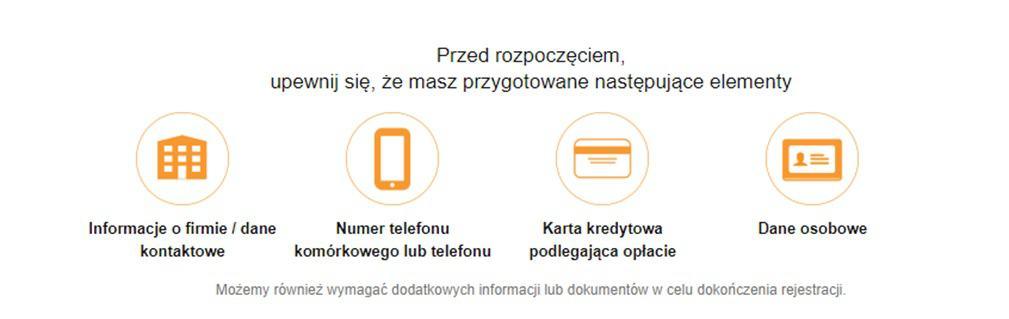 amazon poradnik - dane do rejestracji