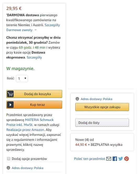 amazon poradnik - okienka zakupowe