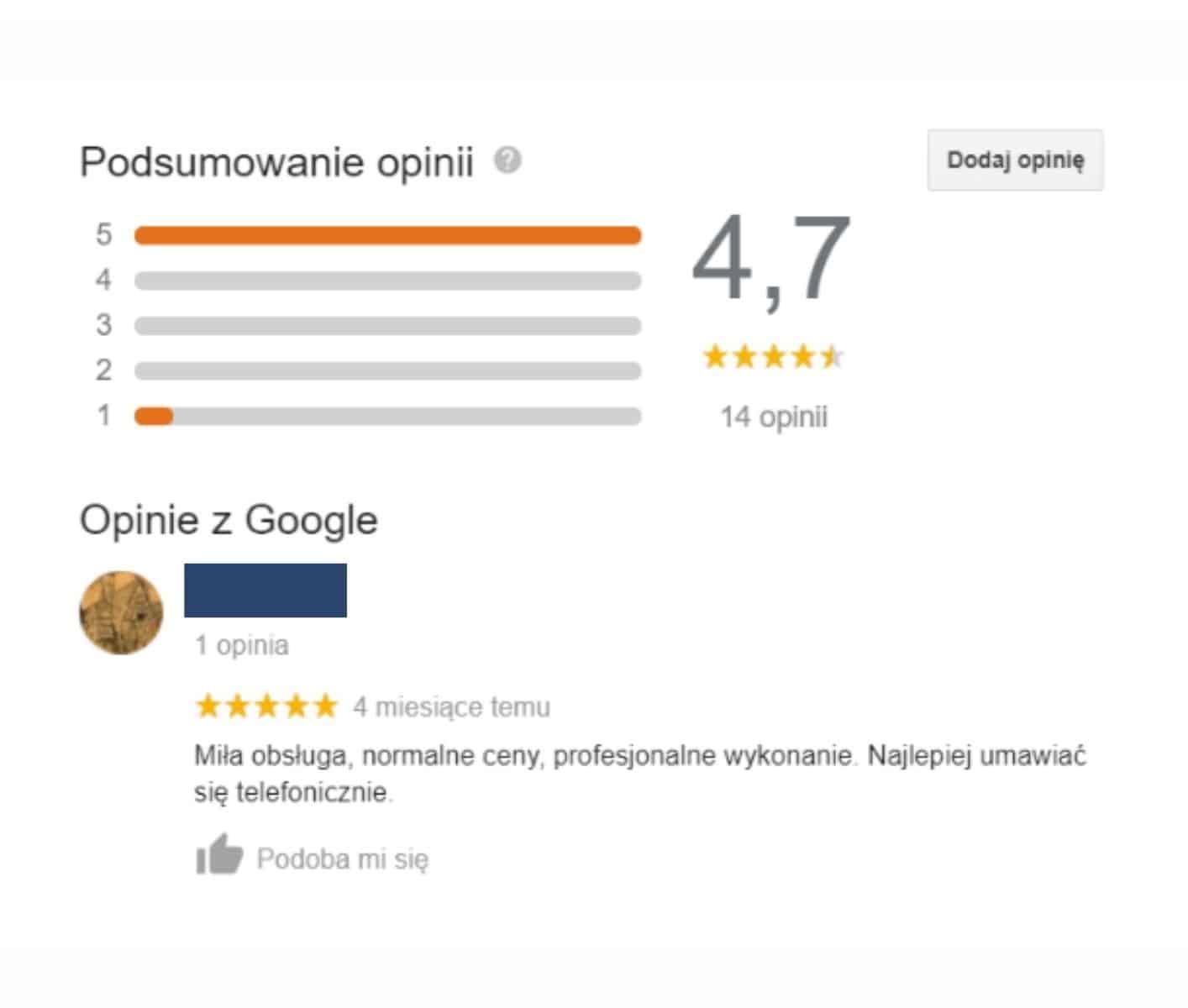google maps - opinie