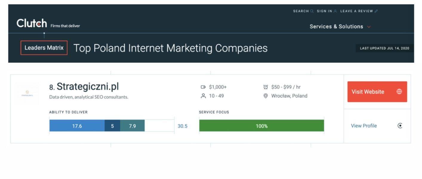 clutch marketing internetowy