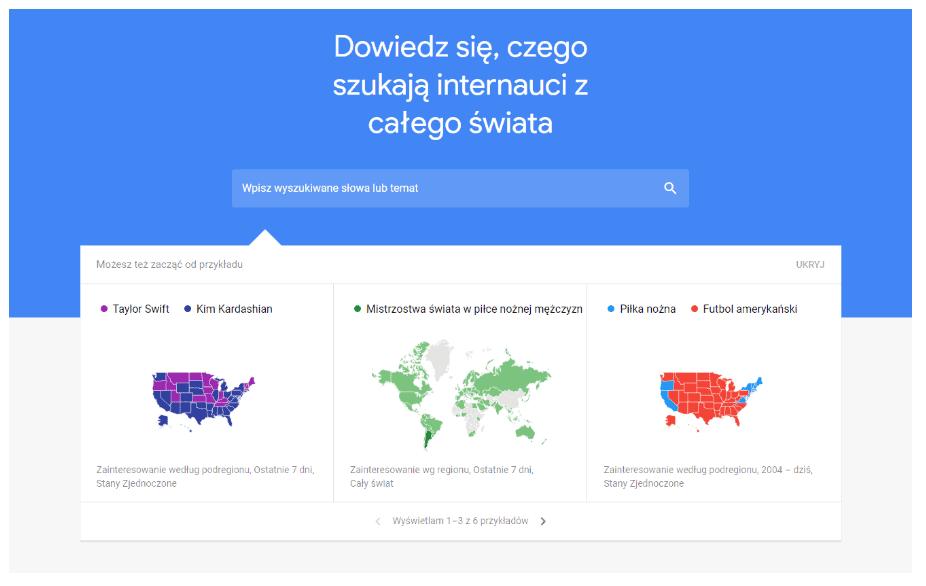 google trends - strona glowna