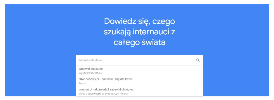 google trends - wyszukiwanie