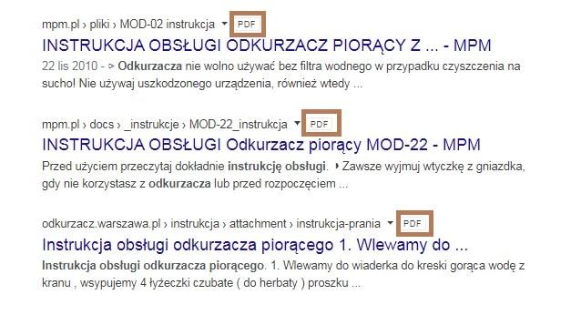 pdf w wyszukiwarce