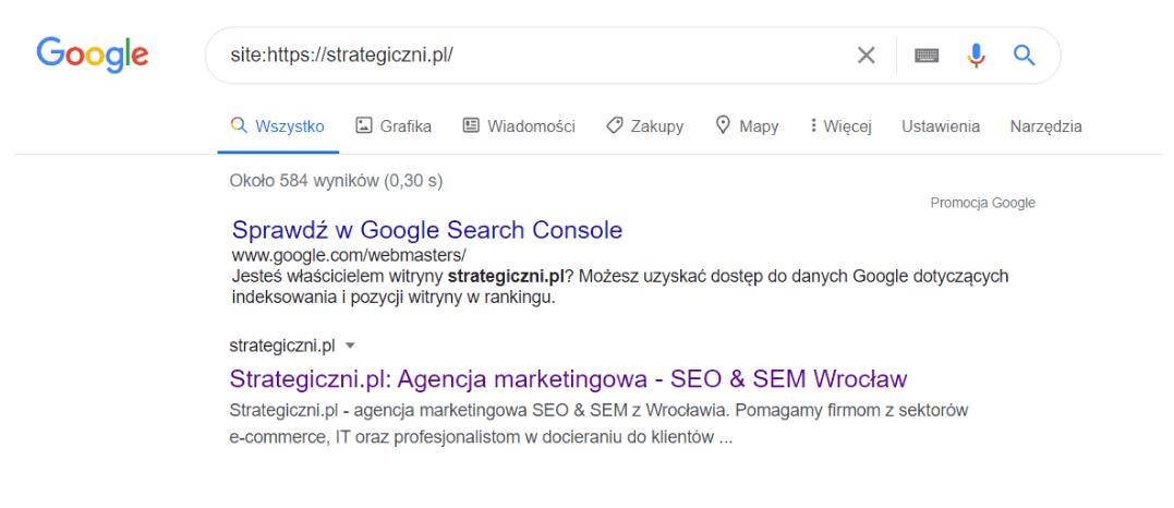 widok z wyszukiwarki google