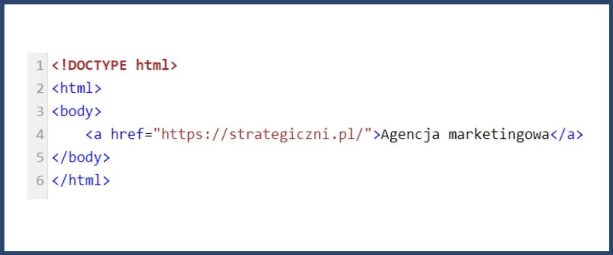 Linki w HTML - przykład